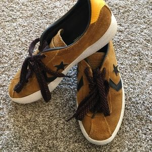Brown Suede Converse One Star Oxfords